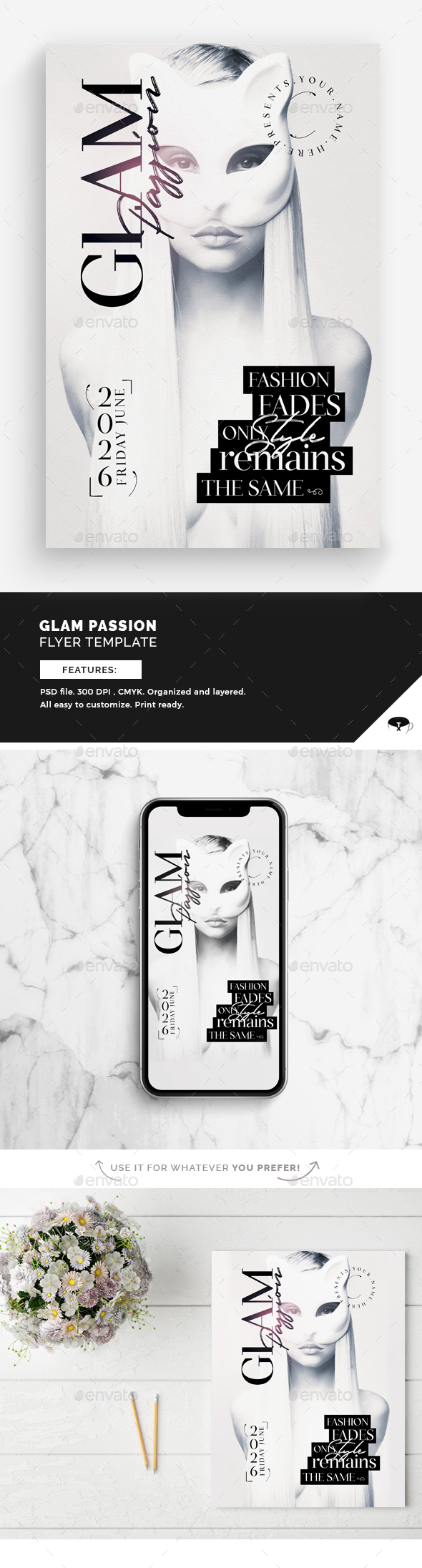Glam Passion Flyer Template - Events Flyers