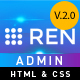 REN - A Responsive, Flat and Full Featured Admin Template - ThemeForest Item for Sale