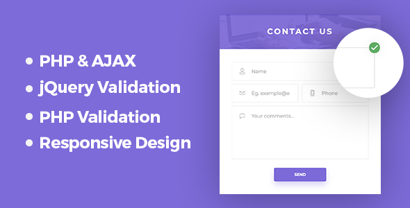 Responsive PHP & AJAX Contact Form            Nulled