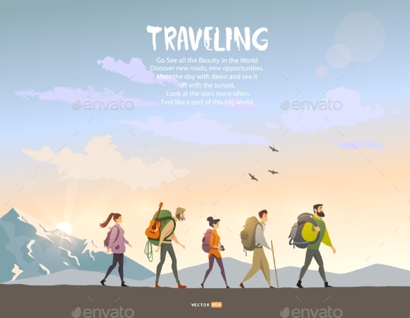 Trekking - Sports/Activity Conceptual