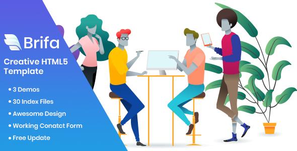 Brifa - Creative Agency HTML5 Template