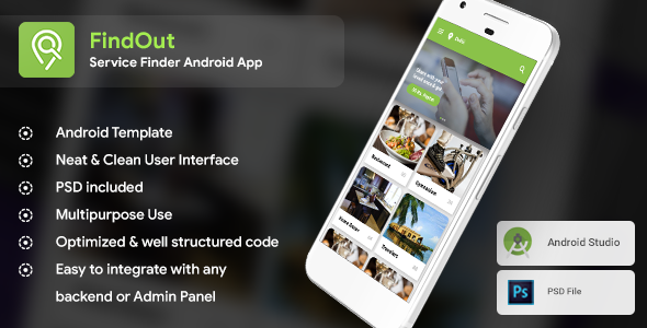 Place Finder, like Restaurant & Service Finder Android App Template (XML Code in Android Studio) - CodeCanyon Item for Sale