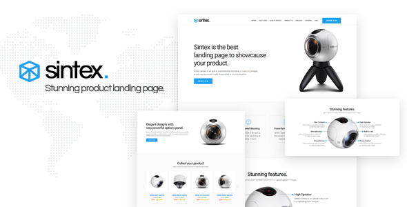 Sintex - Product Landing Page Template by ThemeEaster