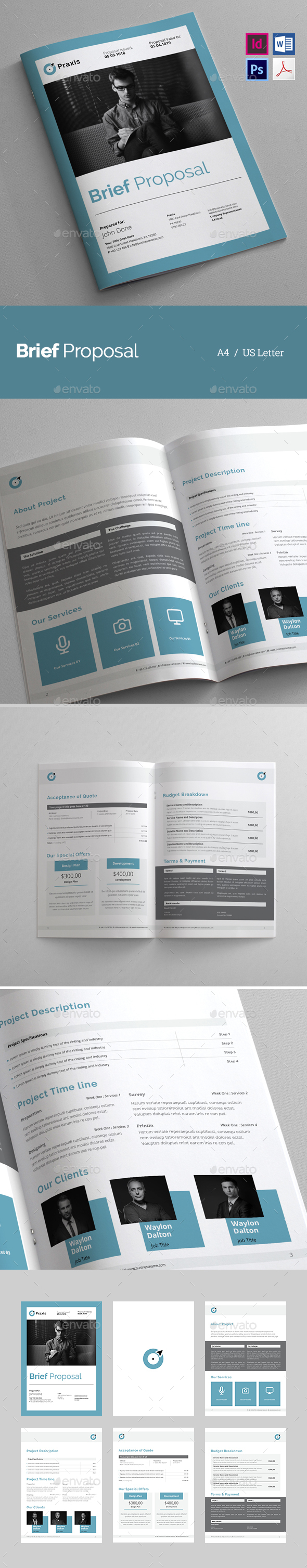 Brief Proposal - Proposals & Invoices Stationery
