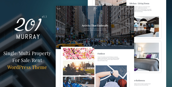201 Murray - Single/Multi Property WordPress Theme - Real Estate WordPress
