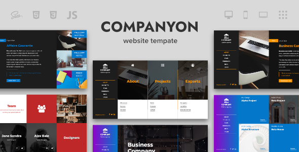 Companyon - Agency Page Template - Portfolio Creative