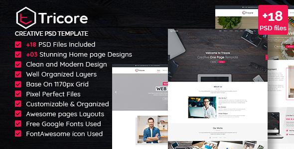 Tricore - Creative PSD Template