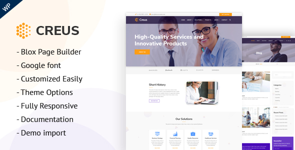 Creus - Business and Financial Consulting WordPress Theme - Corporate WordPress