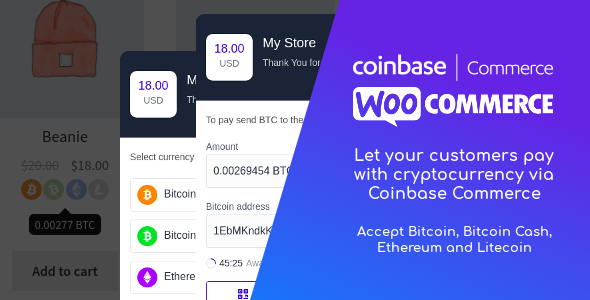 Coinbase Commerce for WooCommerce - CodeCanyon Item for Sale