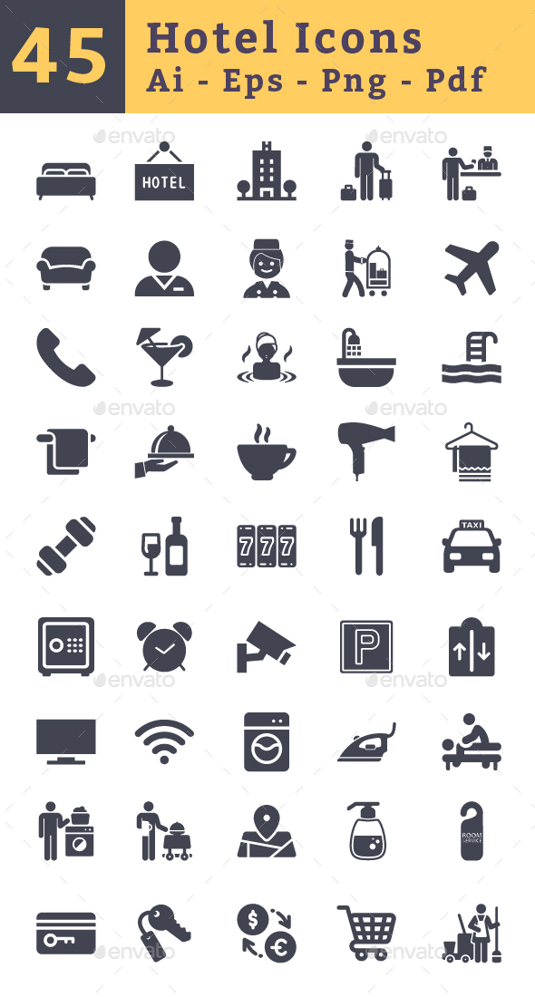 Hotel Icons - Icons