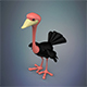 Cartoon Ostrich - 3DOcean Item for Sale