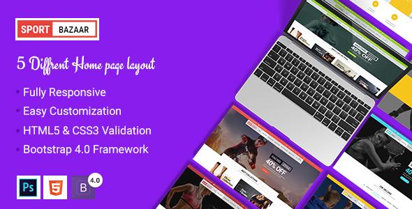 Sports Bazaar - Sports Ecommerce HTML Template