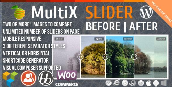 Before-After MultiX Slider - CodeCanyon Item for Sale