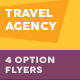 Travel Agency Flyers 4 – 4 Options - GraphicRiver Item for Sale