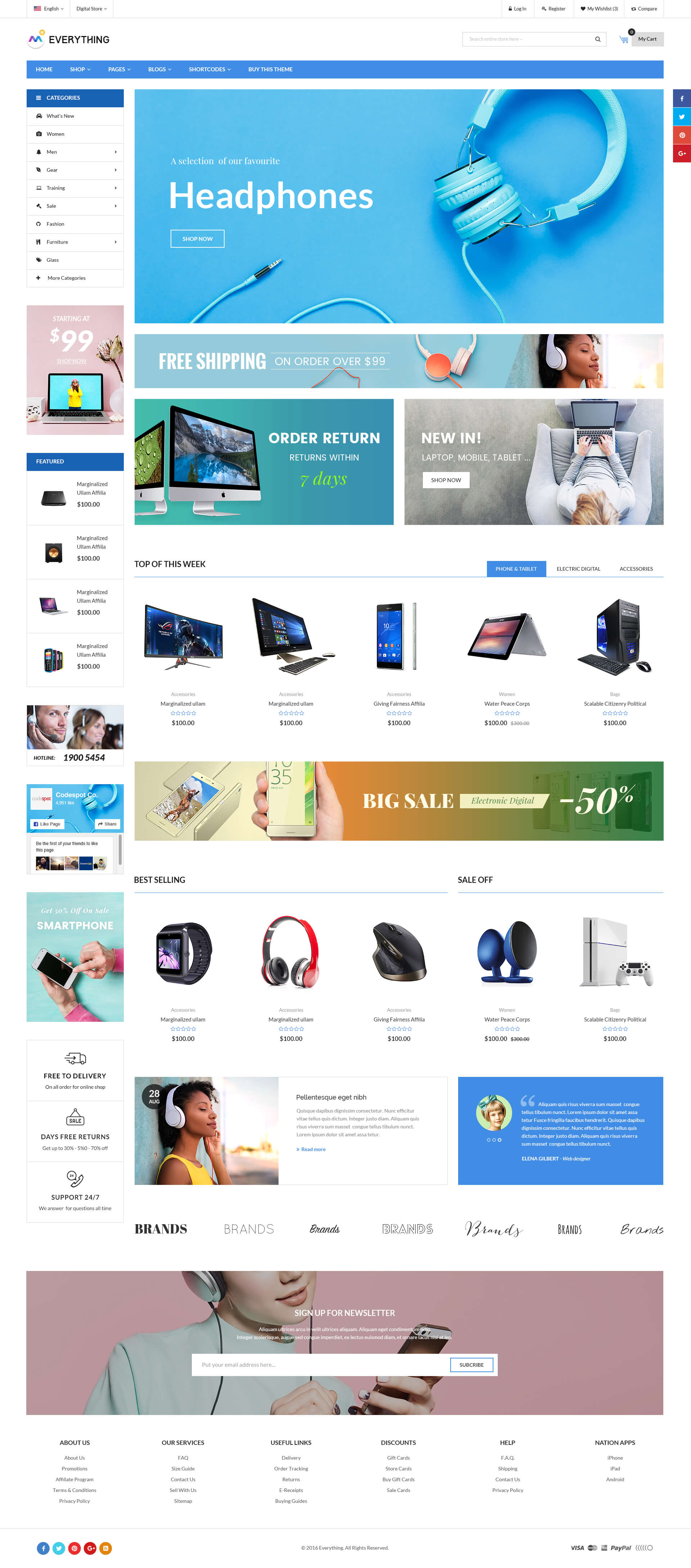 Everything Multipurpose Premium Responsive Shopify Themes