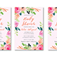 Floral Frame Baby Shower Invitation - GraphicRiver Item for Sale