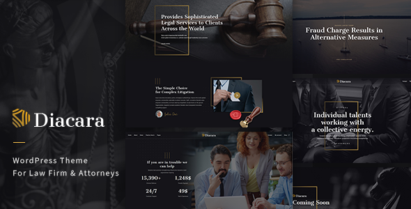 Diacara – WordPress Theme For Law Firm & Attorneys - Business Corporate