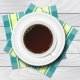 Cup of Coffee with Checkered Napkins on White - GraphicRiver Item for Sale