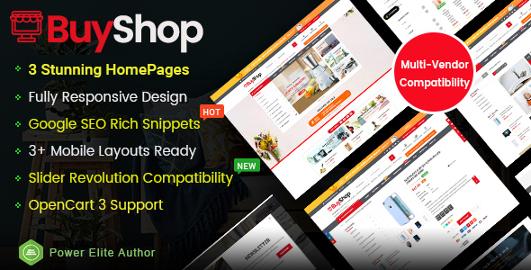 BuyShop - Responsive & Multipurpose OpenCart 3 Theme with Mobile-Specific Layouts - OpenCart eCommerce
