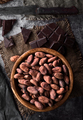 wooden bowl filled with cocoa seeds - PhotoDune Item for Sale