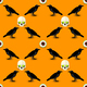 Scary Halloween Seamless Pattern - GraphicRiver Item for Sale