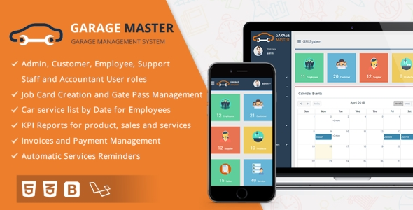Garage Master - Garage Management System - CodeCanyon Item for Sale