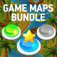4 Seamless Tileable Vertical Game Maps Bundle - GraphicRiver Item for Sale