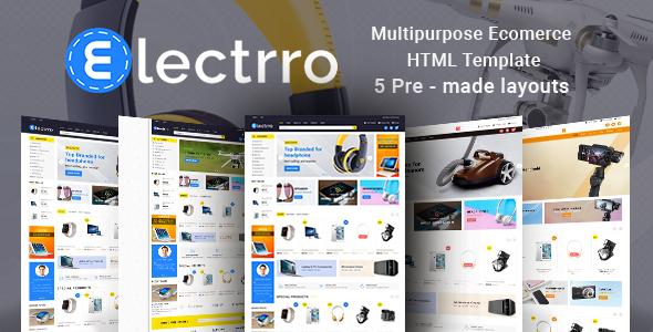 Electrro - Responsive Multipurpose E-Commerce HTML5 Template - Retail Site Templates
