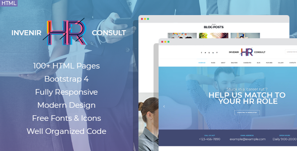 Invenir - HR recruiting agency HTML template