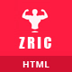 Zric - Fitness Multipages HTML5 Template - ThemeForest Item for Sale