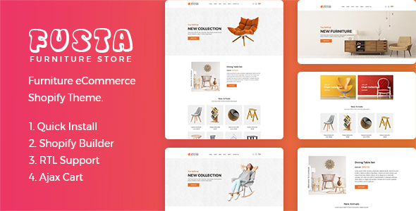 Fusta - Furniture Shopify Theme - Shopping Shopify