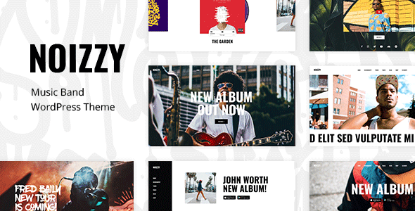 Noizzy - Music Band WordPress Theme