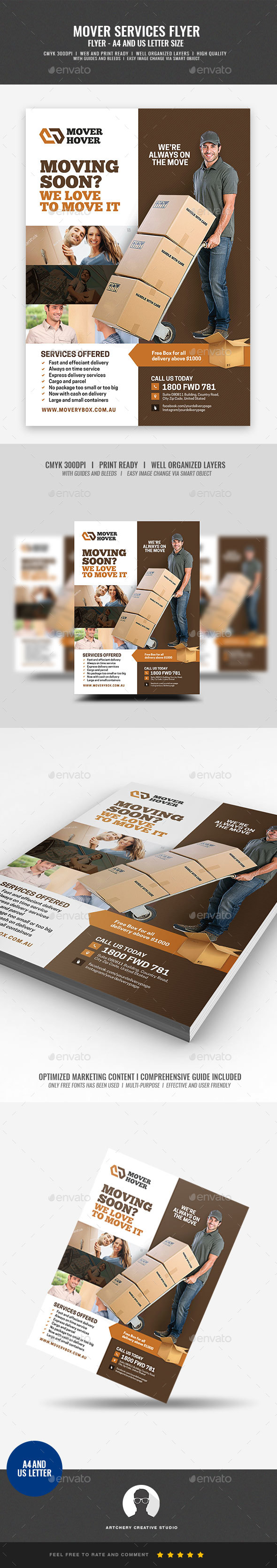 Mover and Local Transport Flyer - Corporate Flyers