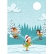 Christmas Kids Playing Winter Games Skating - GraphicRiver Item for Sale