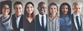 Smiling group of ethnically diverse businessmen and businesswomen - PhotoDune Item for Sale