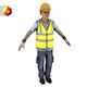 Asian worker