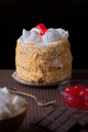meringue cake against dark background - PhotoDune Item for Sale