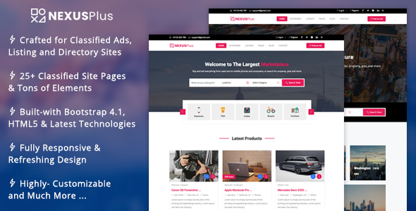 NexusPlus - Classified Ads Website Template