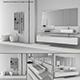 Bathroom furniture set Arcom Moov 2 - 3DOcean Item for Sale