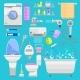 Bathroom Icons Symbols Vector Illustration - GraphicRiver Item for Sale