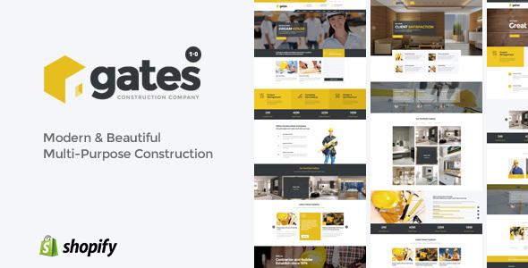 Gates - Multi-Purpose Construction Website Shopify Theme - Shopify eCommerce