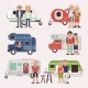 Senior Travel Vector Elderly Family Couple - GraphicRiver Item for Sale