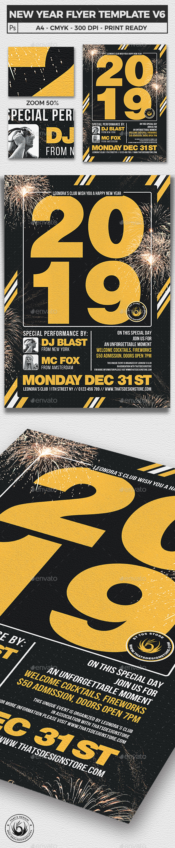 New Year Flyer Template V6 - Clubs & Parties Events