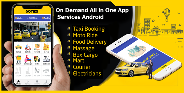 GoTaxi - On Demand All in One App Services Android            Nulled