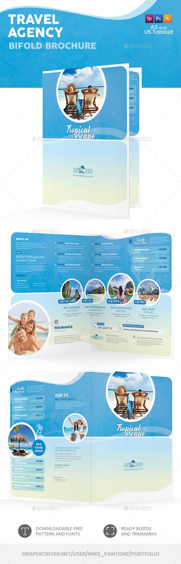 Travel Agency Bifold / Halffold Brochure 5