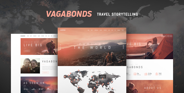 Vagabonds | Personal Travel & Lyfestyle Blog WordPress Theme