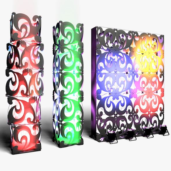 Stage Decor 08 Modular Wall Column - 3DOcean Item for Sale
