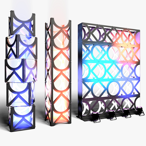 Stage Decor 11 Modular Wall Column - 3DOcean Item for Sale