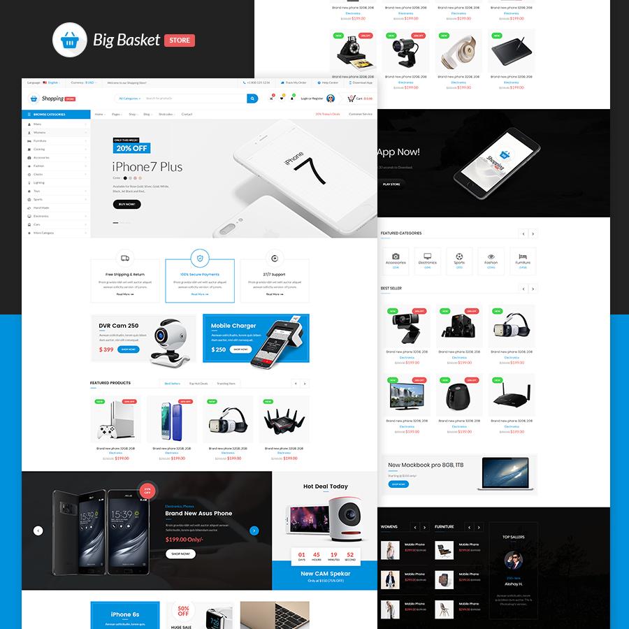 Big Basket | Multipurpose e-commerce HTML Template - 1