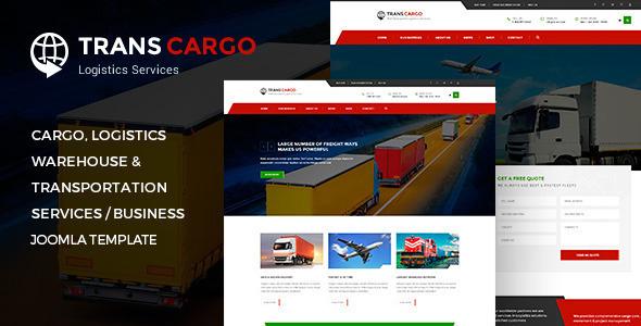 TransCargo - Transport & Logistics Joomla Template - Business Corporate